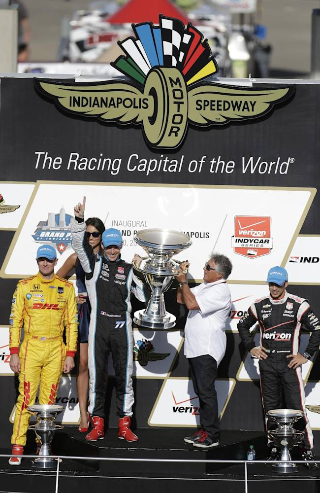 Pagenaud stretches fuel to win on Indy road course