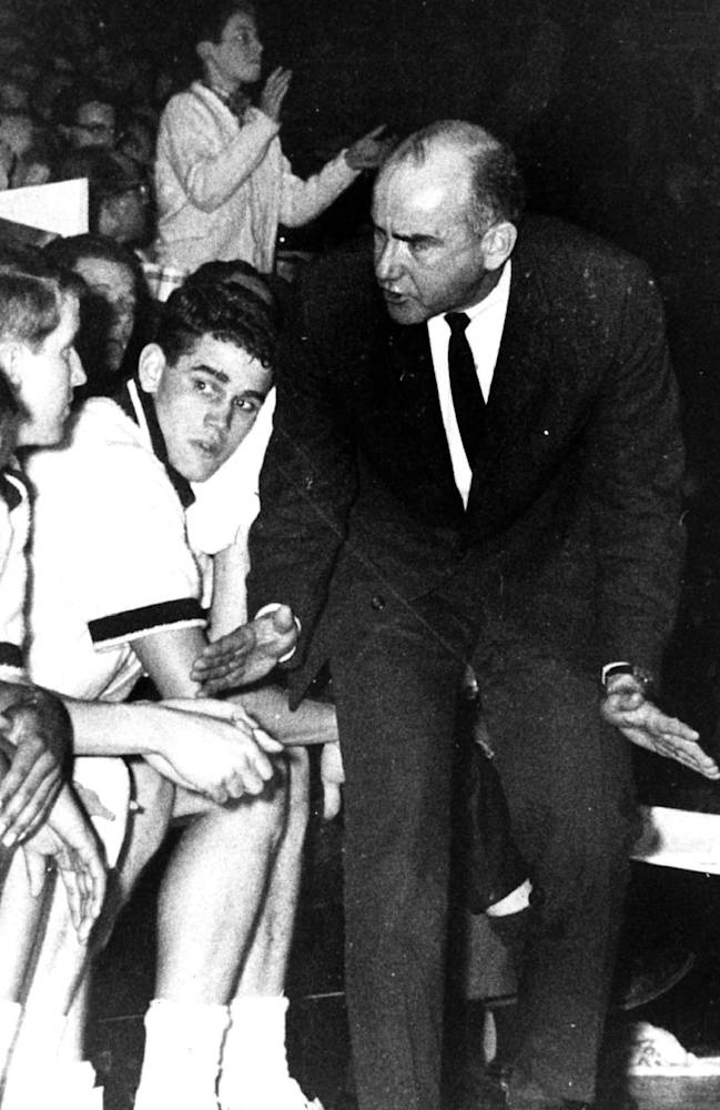 This undated photo provided by Saint Joseph's University shows the school's basketball coach Jack Ramsay. Ramsay, a Hall of Fame coach who led the Portland Trail Blazers to the 1977 NBA championship before he became one of the league's most respected broadcasters, has died following a long battle with cancer. He was 89