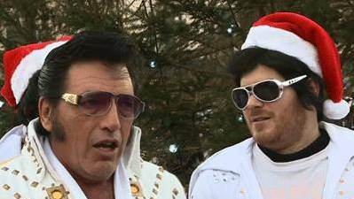 Elvis Look-a-Likes Get Into the Holiday Spirit