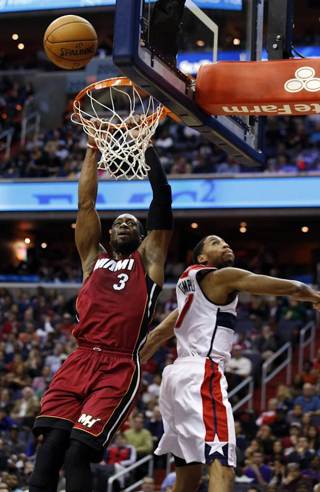 Wizards hand Heat 3rd straight loss, 114-97