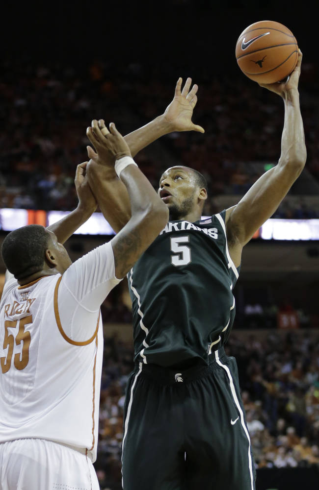 No. 5 Michigan State beats Texas 92-78