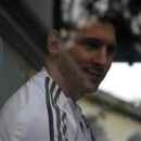 Lionel Messi of Argentina leaves the hotel, where the Argentine national team is staying, in Guatemala City, June 12, 2013. REUTERS/Jorge Dan Lopez