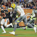Green Bay Packers' Jordy Nelson runs into the end zone to score a touchdown during the first half of the NFL Football Pro Bowl Sunday, Jan. 25, 2015, in Glendale, Ariz The Associated Press
