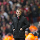 Liverpool's manager Brendan Rodgers watches as his team lose 2-1 to Chelsea during the English Premier League soccer match between Liverpool and Chelsea at Anfield Stadium, Liverpool, England, Saturday Nov. 8, 2014