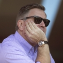 Outgoing Maple Leaf Sports and Entertainment President Tim Leiweke watches Toronto FC's 3-0 win over Chivas USA in an MLS soccer game in Toronto on Sunday, Sept. 21, 2014 The Associated Press