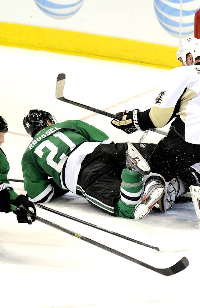 Lehtonen shuts out Penguins as Stars win 3-0