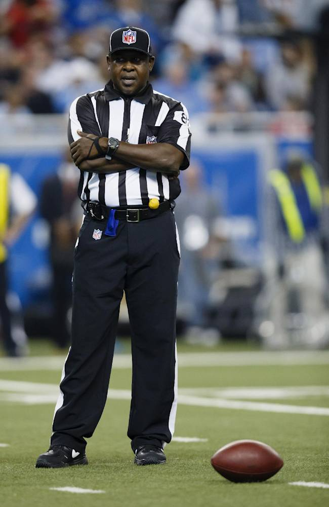 Umpire Roy Ellison (81) during an NFL football game between the Detroit Lions and the Houston Texans at Ford Field in Detroit, Thursday, Nov. 22, 2012