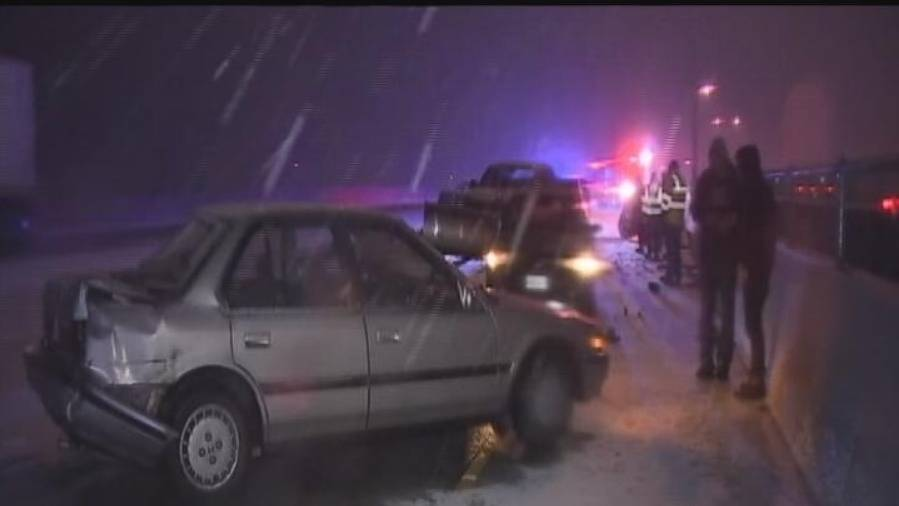 Dangerous Storm Causes 20-Car Pile Up