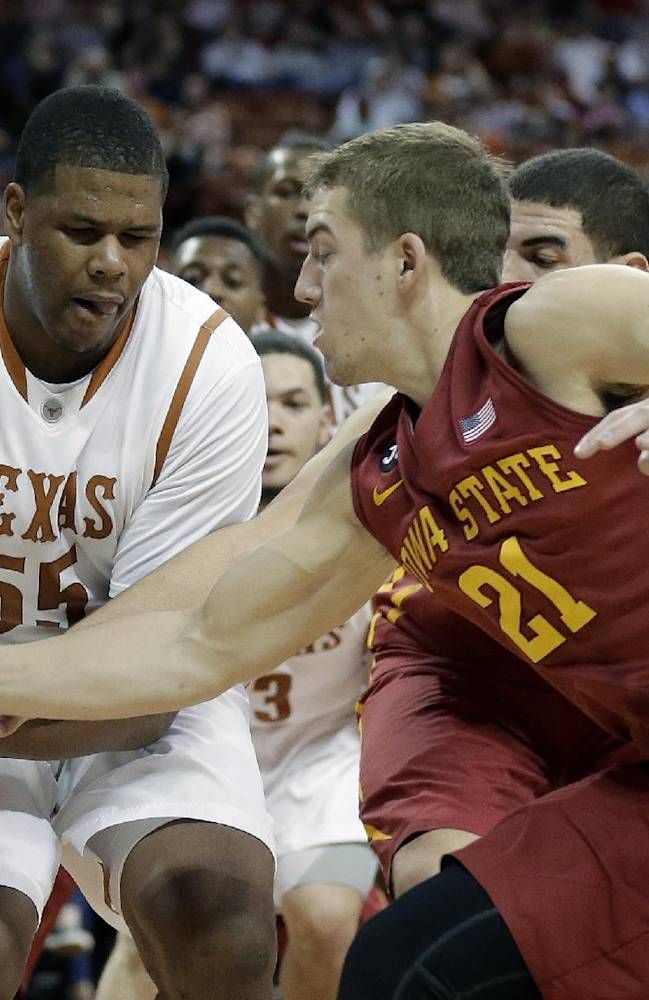 Holmes powers Texas over No. 8 Iowa State 86-76