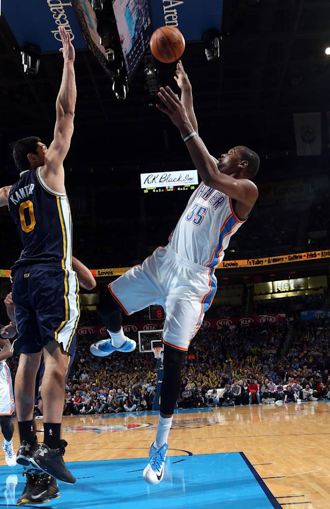 Durant, Ibaka pace Thunder to 95-73 win over Jazz