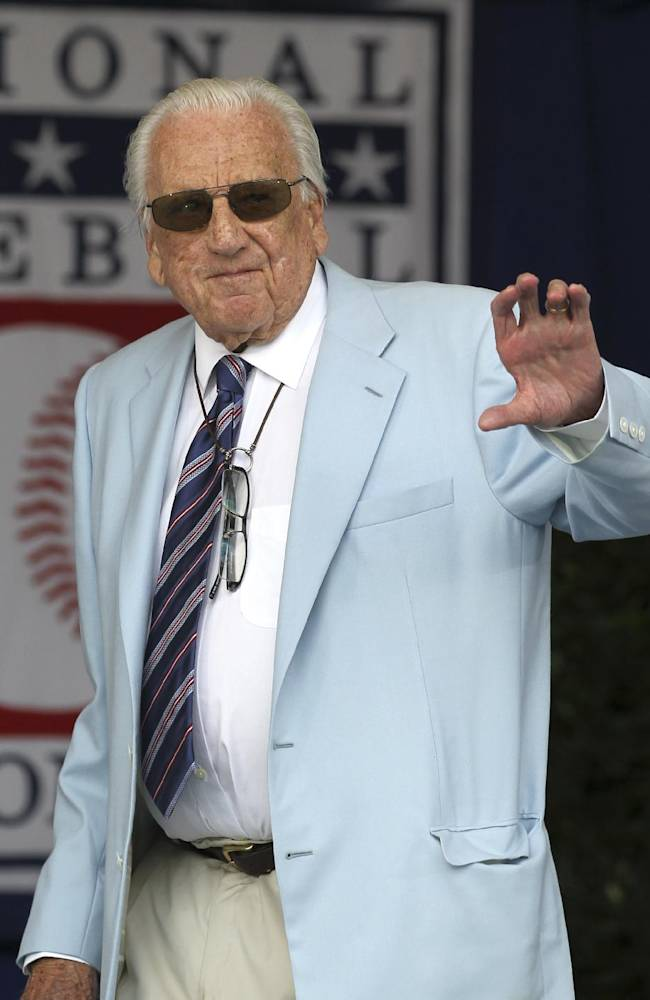 Hall of Famer Ralph Kiner during the Baseball Hall of Fame inductions in Cooperstown, N.Y., on Sunday, July 24, 2011