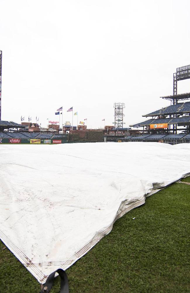 Pirates-Phillies exhibition game rained out