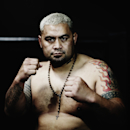 AUCKLAND, NEW ZEALAND - SEPTEMBER 03: (EDITORS NOTE: This image has been desaturated.) Mark Hunt poses during the UFC Fight Night media session at SKY TV Gym on September 3, 2014 in Auckland, New Zealand. (Photo by Hannah Peters/Getty Images)