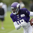Minnesota Vikings wide receiver Greg Jennings runs upfield during NFL football training camp, Sunday, July 27, 2014, in Mankato, Minn The Associated Press