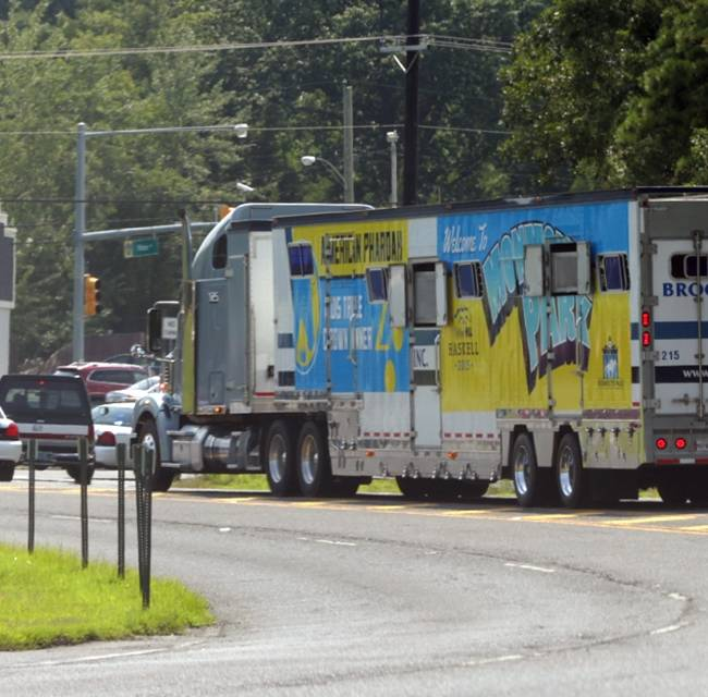 American Pharoah arrives at Monmouth for Sunday's Haskell