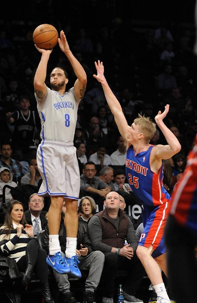Nets use 3-point attack to beat Pistons 116-104