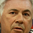 Real Madrid's coach Carlo Ancelotti answers questions during a press conference at Anfield Stadium, in Liverpool, England, Tuesday, Oct. 21, 2014. Real Madrid will play Liverpool in a Champion's League Group B soccer match on Wednesday