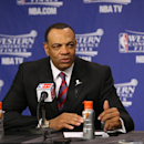 Head Coach Lionel Hollins of the Memphis Grizzlies speaks during a press conference after loosing in Game Three of the Western Conference Finals between the San Antonio Spurs and the  Memphis Grizzlies during the 2013 NBA Playoffs on May 25, 2013 at FedExForum in Memphis, Tennessee