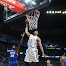 NEW ORLEANS, LA - JANUARY 26: Anthony Davis #23 of the New Orleans Pelicans dunks against the Philadelphia 76ers on January 26, 2015 at Smoothie King Center in New Orleans, Louisiana. (Photo by Layne Murdoch Jr./NBAE via Getty Images)