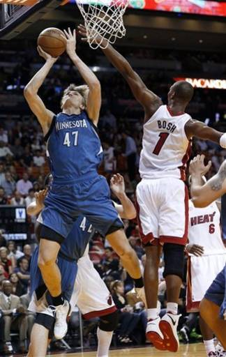Wade, James carry Heat past Timberwolves, 103-92