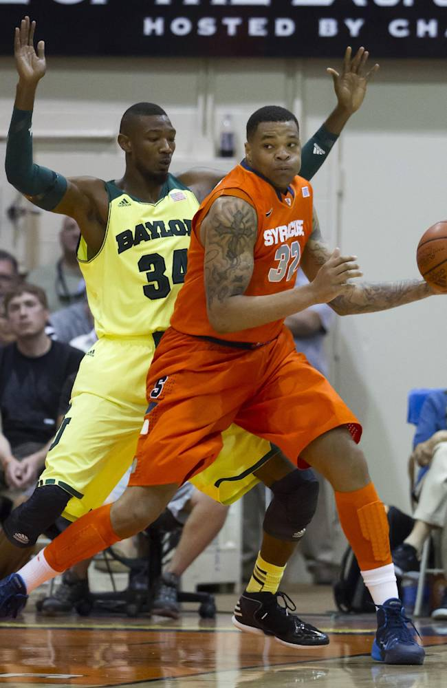No. 8 Syracuse beats No. 18 Baylor 74-67 in Maui