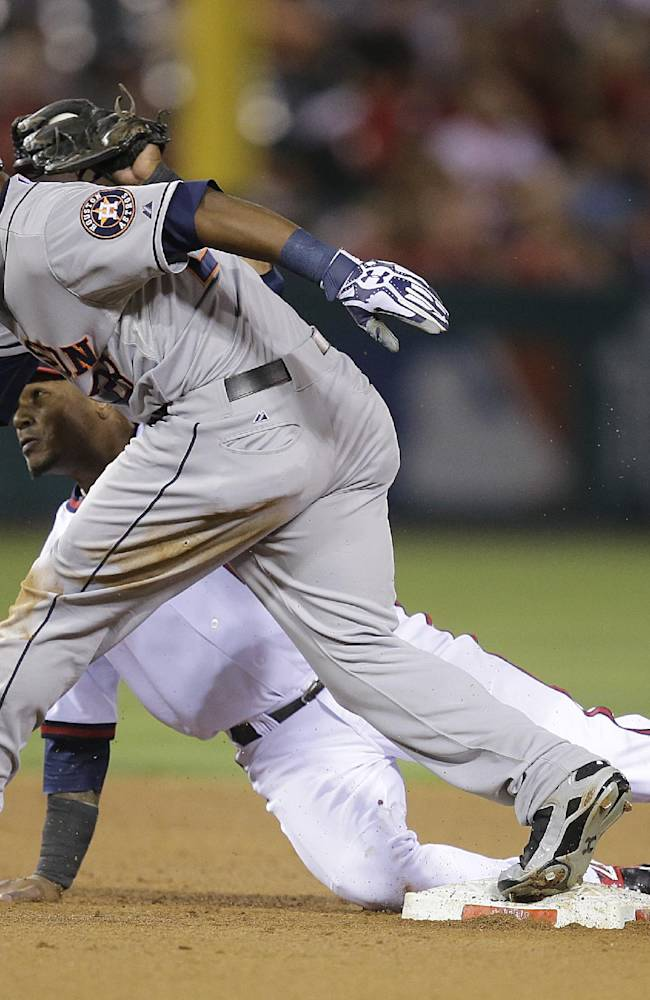 Chris Carter drives in 5, Astros beat Angels 8-2