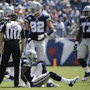 Dallas Cowboys wide receiver Dez Bryant (88) gets up after being shaken up on a play in the first quarter of an NFL football game against the Tennessee Titans, Sunday, Sept. 14, 2014, in Nashville, Tenn The Associated Press