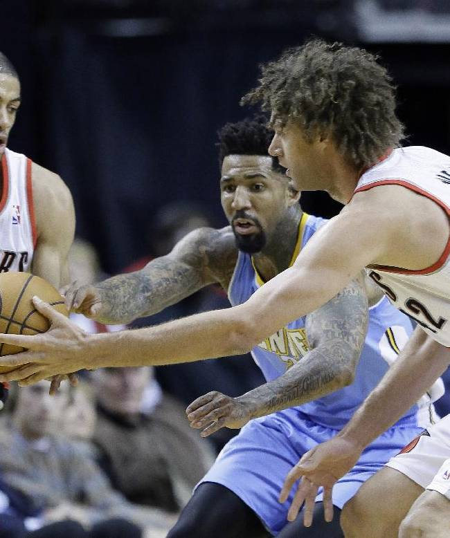 Aldridge scores 44, Blazers beat Nuggets 110-105