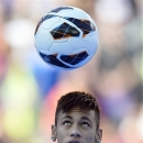 FILE - In this June 3, 2013 file photo, FC Barcelona's new signing, Neymar controls the ball during his official presentation at the Camp Nou stadium in Barcelona, Spain. As the player carrying Brazil's hopes for a World Cup title at home, Neymar is expected to attract most of the attention at the Confederations Cup. After his high profile transfer to Barcelona, the scrutiny is only likely to increase. (AP Photo/Manu Fernandez, File)