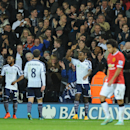 West Bromich Albion's Saido Berahino celebrates after scoring against Manchester United during the English Premier League soccer match between West Bromwich Albion and Manchester United at the Hawthorns, Birmingham, England, Monday, Oct. 20, 2014