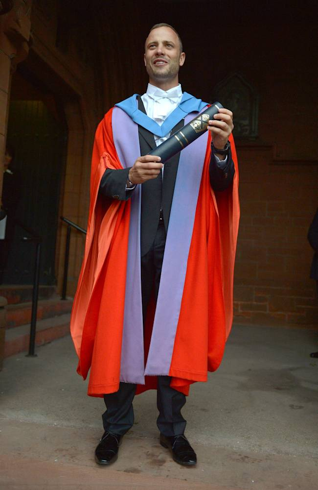 Oscar Pistorius Receives Honorary Degree From The University Of Strathclyde