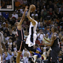 Orlando Magic small forward Tobias Harris (12) prepares to shoot over Miami Heat small forward Shane Battier (31) during the first half of an NBA basketball game in Miami, Saturday, March 1, 2014 The Associated Press