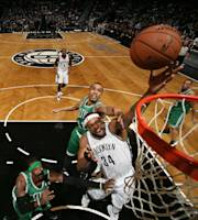 NEW YORK, NY - DECEMBER 10: Paul Pierce #34 of the Brooklyn Nets shoots during a game against the Boston Celtics at Barclays Center on December 10, 2013 in the Brooklyn borough of New York City. (Photo by Nathaniel S. Butler/NBAE via Getty Images)