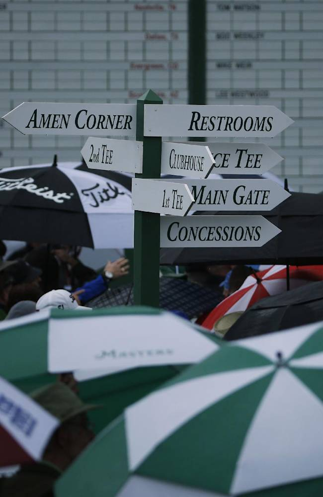 Rains washes out 1st day at Masters