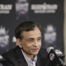 SACRAMENTO, CA -JUNE 3: Sacramento Kings owner Vivek Ranadive introduces new head coach Michael Malone during a news conference at Sleep Train Arena on Monday, June 3, 2013 in Sacramento, California. (Photo by Steve Yeater/NBAE via Getty Images)