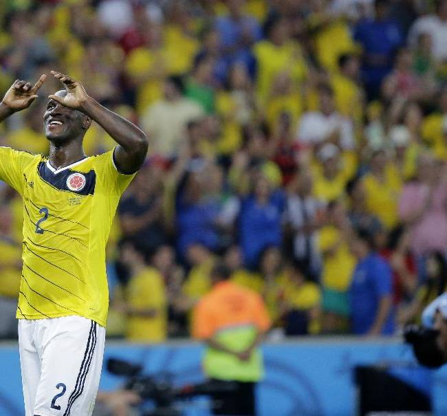 Brazil faces upbeat Colombia in World Cup quarters
