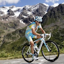 Astana rider Maxim Iglinskiy of Kazakhstan cycles up the Col du Galibier during the 18th stage from Pinerolo to Galibier Serre-Chevalier at the Tour de France 2011 cycling race July 21, 2011. REUTERS/Denis Balibouse