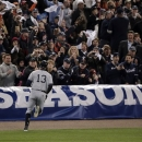 New York Yankees' Alex Rodriguez runs back to the dugout after grounding out in the ninth inning during Game 4 of the American League championship series against the Detroit Tigers, Thursday, Oct. 18, 2012, in Detroit. The Tigers won 8-1 and move on to the World Series. (AP Photo/Charlie Riedel)