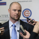 Chicago Cubs pitcher Jon Lester greets members of the media during opening night of the annual Cubs Convention, Friday, Jan. 16, 2015 in Chicago The Associated Press
