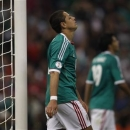 Javier Hernandez of Mexico reacts after missing a chance to score against Costa Rica during their 2014 World Cup qualifying soccer match at Azteca stadium in Mexico City June 11, 2013. REUTERS/Tomas Bravo