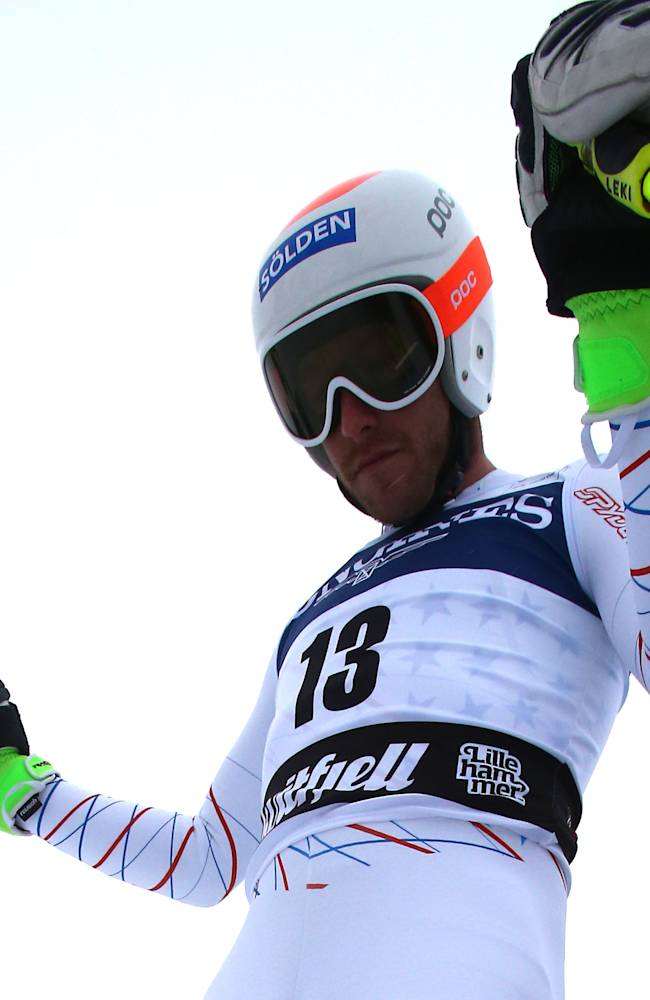 United States's Bode Miller   prepares before the start  an alpine ski, men's World Cup downhill training, in Kviitfjell, Norway, Friday, Feb. 28 , 2014