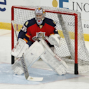 Florida Panthers goaltender Al Montoya (35) warms up prior to an NHL game against the Ottawa Senators on Friday, Nov. 28, 2014, in Sunrise, Fla The Associated Press