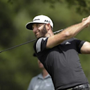Mar 22, 2017; Austin, TX, USA; Dustin Johnson of the United States plays against Webb Simpson of the United States during the first round of the World Golf Classic - Dell Match Play golf tournament  at Austin Country Club. Mandatory Credit: Erich Schlegel-USA TODAY Sports