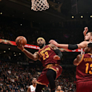 TORONTO, ON - MARCH 4: LeBron James #23 of the Cleveland Cavaliers shoots against the Toronto Raptors on March 4, 2015 at the Air Canada Centre in Toronto, Ontario, Canada. (Photo by Ron Turenne/NBAE via Getty Images)