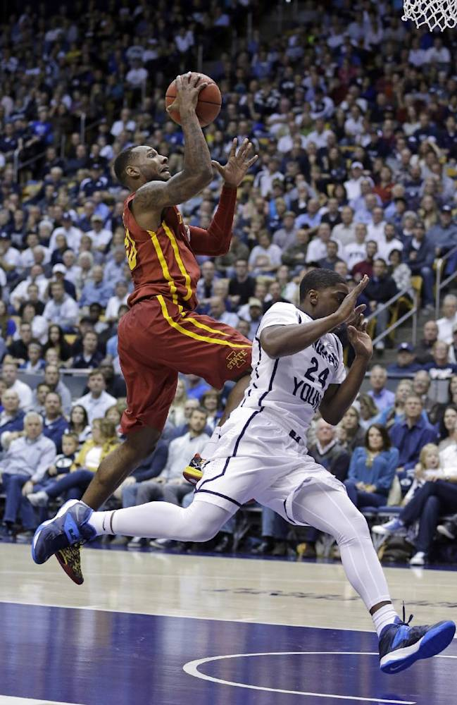 No. 21 Iowa St rallies to beat BYU 90-88
