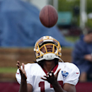 Washington Redskins receiver Andre Roberts catches a punt during practice at the team's NFL football training facility, Sunday, July 27, 2014 in Roanoke, Va The Associated Press