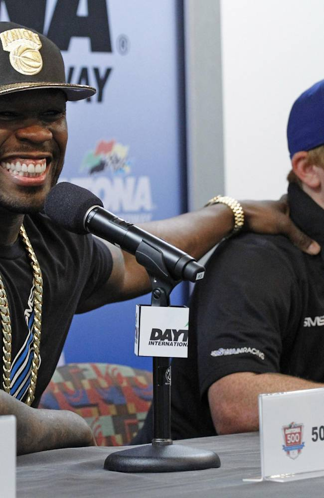 50 Cent back at Daytona looking for a kiss