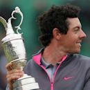 Rory McIlroy of Northern Ireland holds the Claret Jug trophy after winning the British Open Golf championship at the Royal Liverpool golf club, Hoylake, England, Sunday July 20, 2014