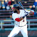 Washington Nationals' Denard Span stands at the plate for the Hagerstown Suns against the Lakewood BlueClaws in a baseball game on Thursday, April 17, 2014, in Hagerstown, Md. Span was making a rehab appearance The Associated Press