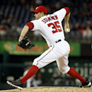 Washington Nationals relief pitcher Craig Stammen throws during the third inning of a baseball game against the Miami Marlins at Nationals Park Wednesday, April 9, 2014, in Washington The Associated Press